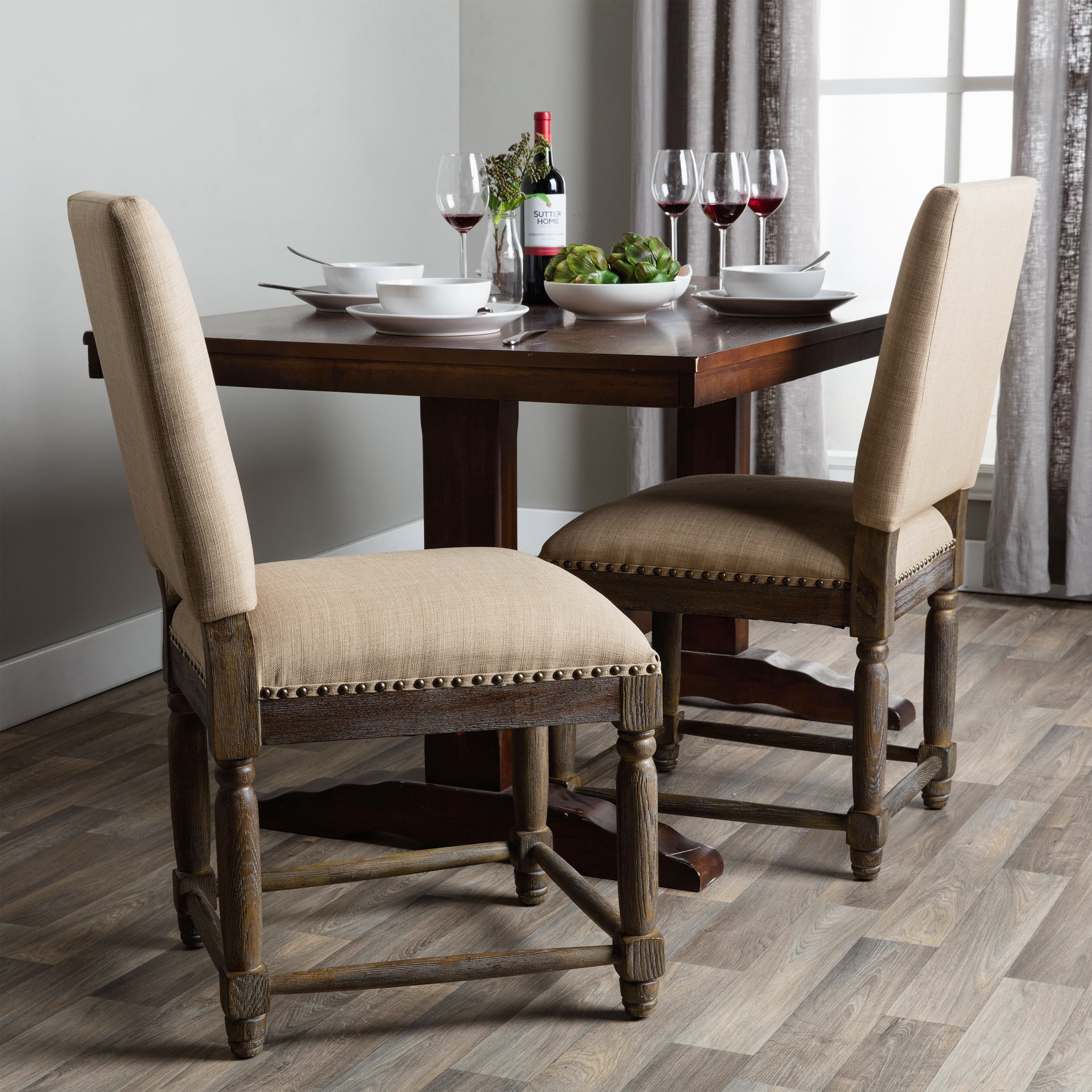 linen dining chairs natural renate linen dining chairs set of 2 walmartcom