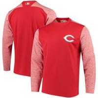 Cincinnati Reds Majestic Authentic Collection On-Field Tech Fleece Pullover Sweatshirt - Red
