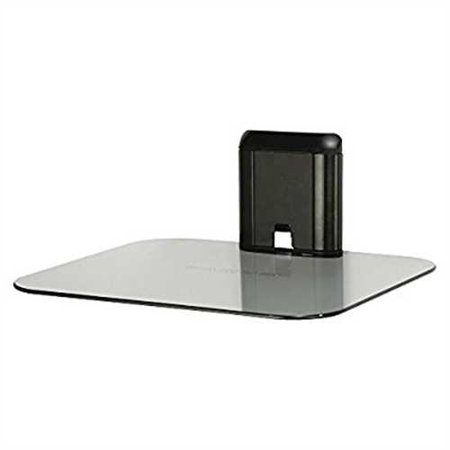 Sanus Single AV Glass Shelf - Black/Clear (A401-B1)