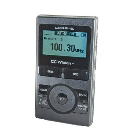 C. Crane CC Witness Plus Digital MP3 Recorder Player with Built-in AM FM  Radio - Walmart.com 1c0125a889a4b