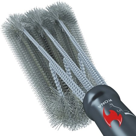 "Image of ""KONA 18"""" Best BBQ Stainless Steel Grill Brush, 360° of Cleaning"""