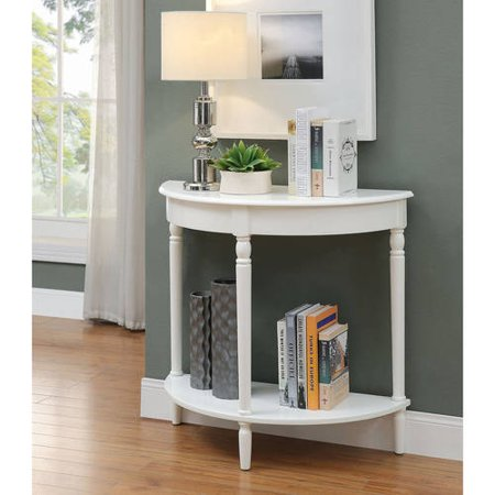 Convenience Concepts French Country Half Moon Hall Table ...