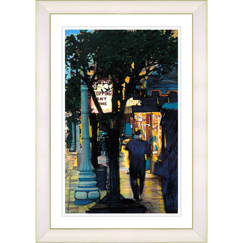 Studio Works Modern ''Evening Walk'' by Zhee Singer Framed Painting Print