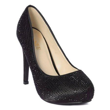 Ranee Adult Black Stud Embellished Stiletto Heel Stylish Pumps