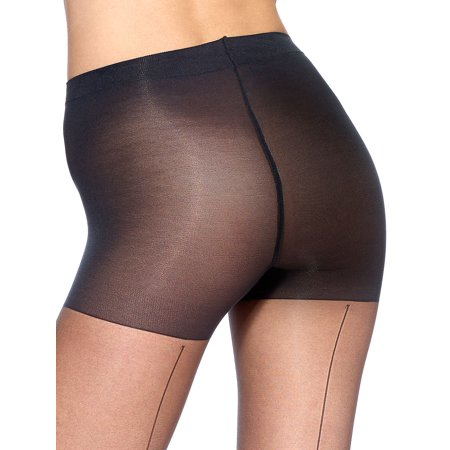 Dkny Control Top Opaque Tights - Backseam Sheer with Control Top