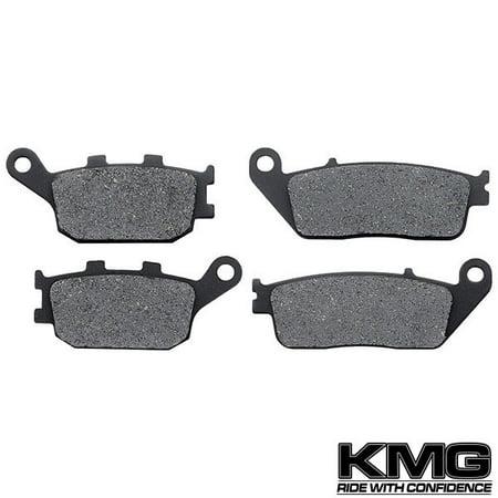 KMG 2003-2007 Honda VTX 1300 S Retro Front + Rear Non-Metallic Organic NAO Brake Pads - Neo Retro Brakes