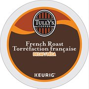 Tully's Coffee Decaffeinated French Roast, Extra Bold, 24-Count K-Cup for Keu...