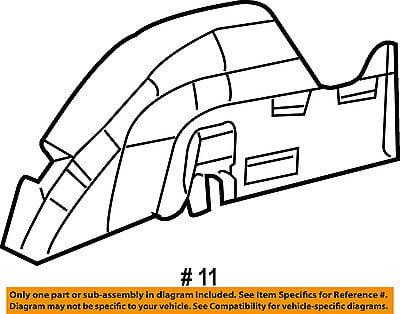 Chrysler Oem 01 10 Pt Cruiser Quarter Panel Silencer Left 5027085ab