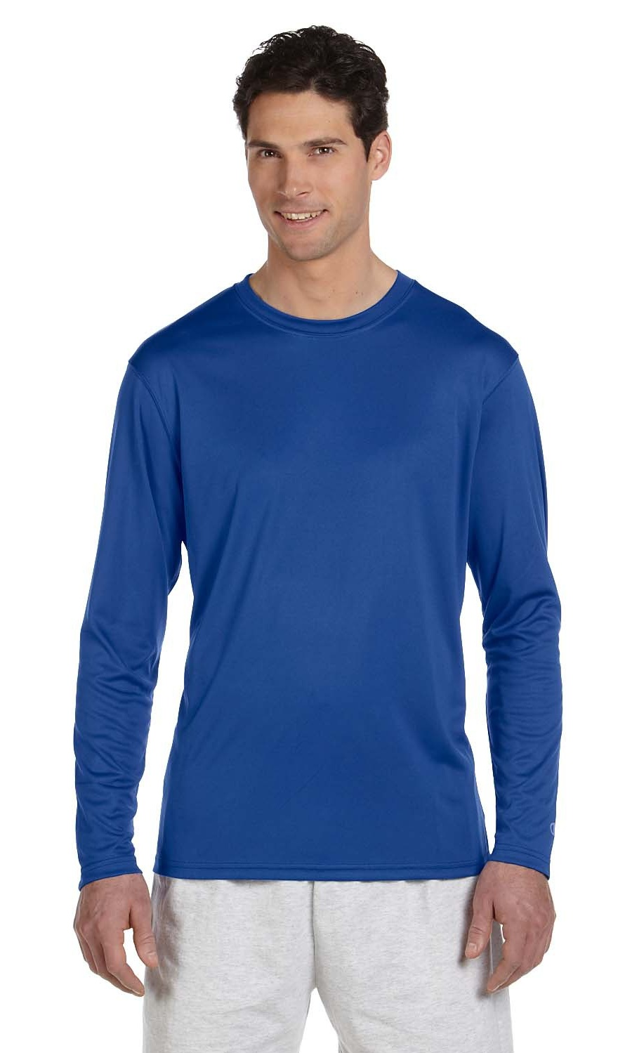 cc9feab1 Branded Champion - Branded Champion 41 oz Double Dry Long Sleeve Interlock T -Shirt - NAVY - M (Instant Saving 5% & more on min 2) - Walmart.com