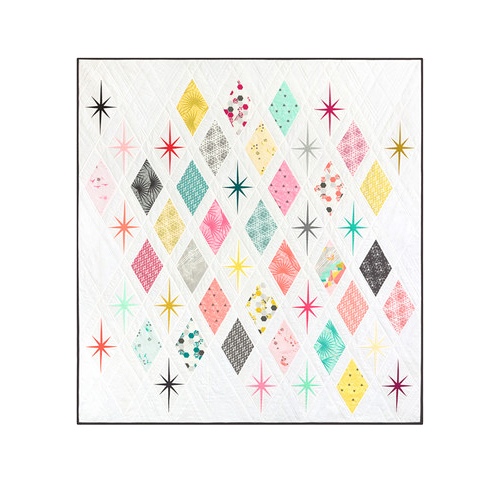 "Robert Kaufman Atomic Starburst Quilt Kit 62"" x 66"" feat. Palm Canyon Collection by Violet Craft Fabric KITP-1812-5"