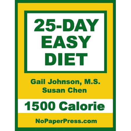 25-Day Easy Diet - 1500 Calorie - eBook