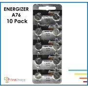 10 Fresh Genuine Energizer Lr44 A76 357 1.5v Alkaline Coin Cell Button Batteries