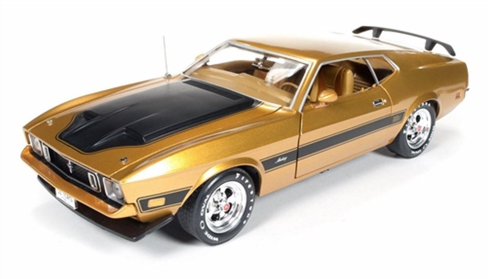 1973 Ford Mustang Mach 1 1//64 Scale Diecast Collectible Car Candy Apple