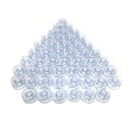 Cutex Brand  50 Plastic Bobbins For Husqvarna Viking Emerald 116 118 183 Sewing