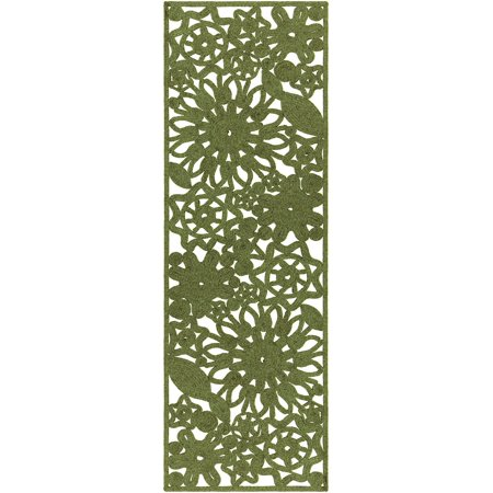 Contemporary Captiva Collection Area Rug in Sage and Oval, Rectangle, Round, Runner Shape