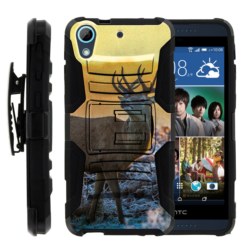HTC Desire 626 Case | HTC Desire 626 Holster Case [ Clip Armor ] HTC 626 Dual Layered Case with Kickstand + Belt Clip - Winter Deer