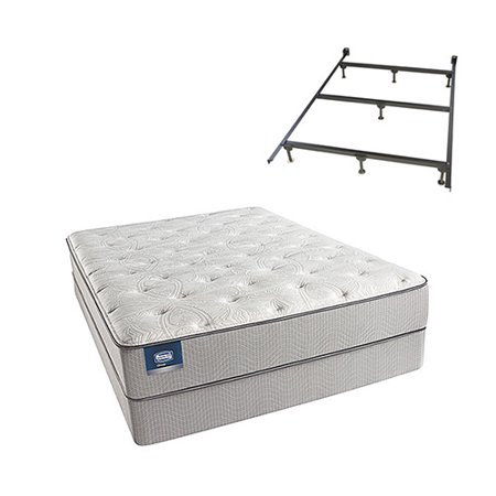 chickering queen size luxury firm mattress and low profile box spring set with frame beautysleep. Black Bedroom Furniture Sets. Home Design Ideas