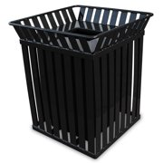 Witt Industries M3601-SQ-FT-BK Outdoor Oakley Collection Receptacle, Black Finish