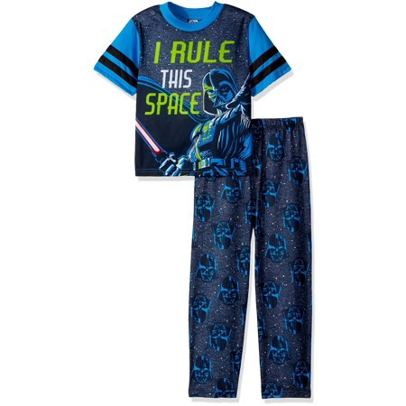 Star Wars Boys' Galactic 2-Piece Pajama Set, Space Black, Size: 10 (Baby Star Wars)