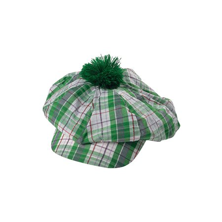 Fun Express - Green Gatsby Hat for St. Patrick's Day - Apparel Accessories - Hats - Novelty Piece Hats - St. Patrick's Day - 1 Piece
