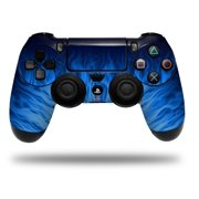 Vinyl Skin Wrap for Sony PS4 Dualshock Controller Fire Blue (CONTROLLER NOT INCLUDED)
