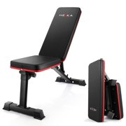 Weight Bench Foldable Workout Bench Adjustable Multi-Purpose Strength Training Bench