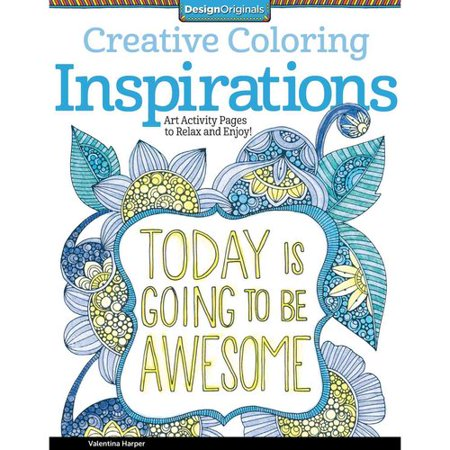 Inspirations Adult Coloring Book Art Activity Pages To Relax And Enjoy
