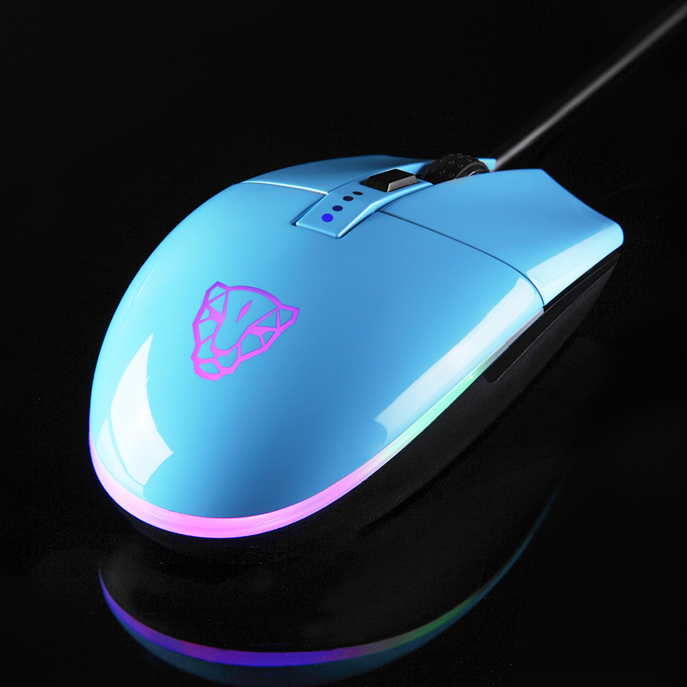 Hight Quality Motospeed V50 4000DPI 6 Buttons Breathing LED Optical Wired Gaming Mouse BK