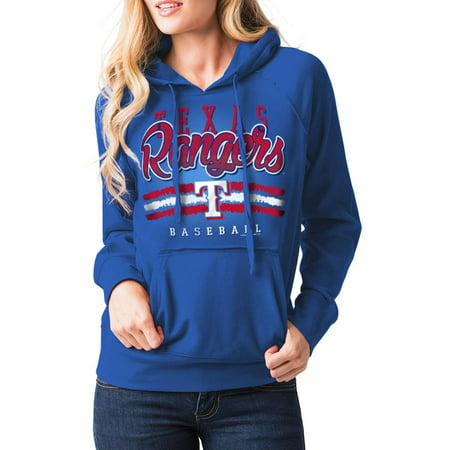 MLB Texas Rangers Womens Fleece Pullover Graphic Hoodie by