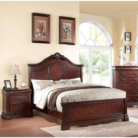 Incredible Acme Furniture 20730Q Estrella Dark Cherry Panel Queen Bedroom Set 3 Pcs Classic Home Interior And Landscaping Ferensignezvosmurscom