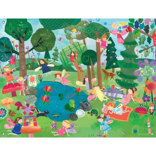 Oopsy Daisy - Forest Fairies Canvas Wall Mural 42x32, Jill McDonald