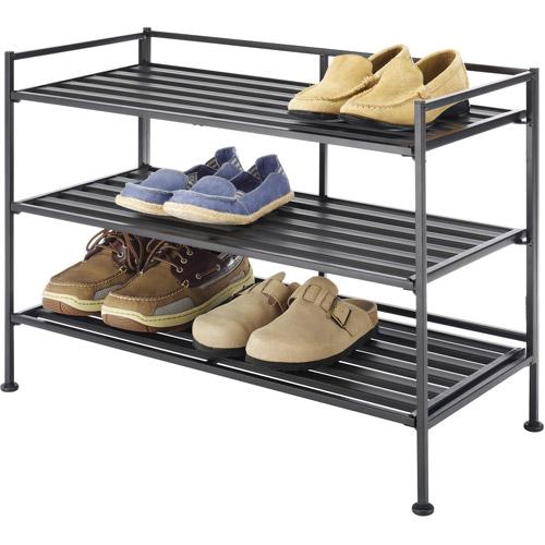 Whitmor 3 Tier Folding Shoe Rack Walmart Com