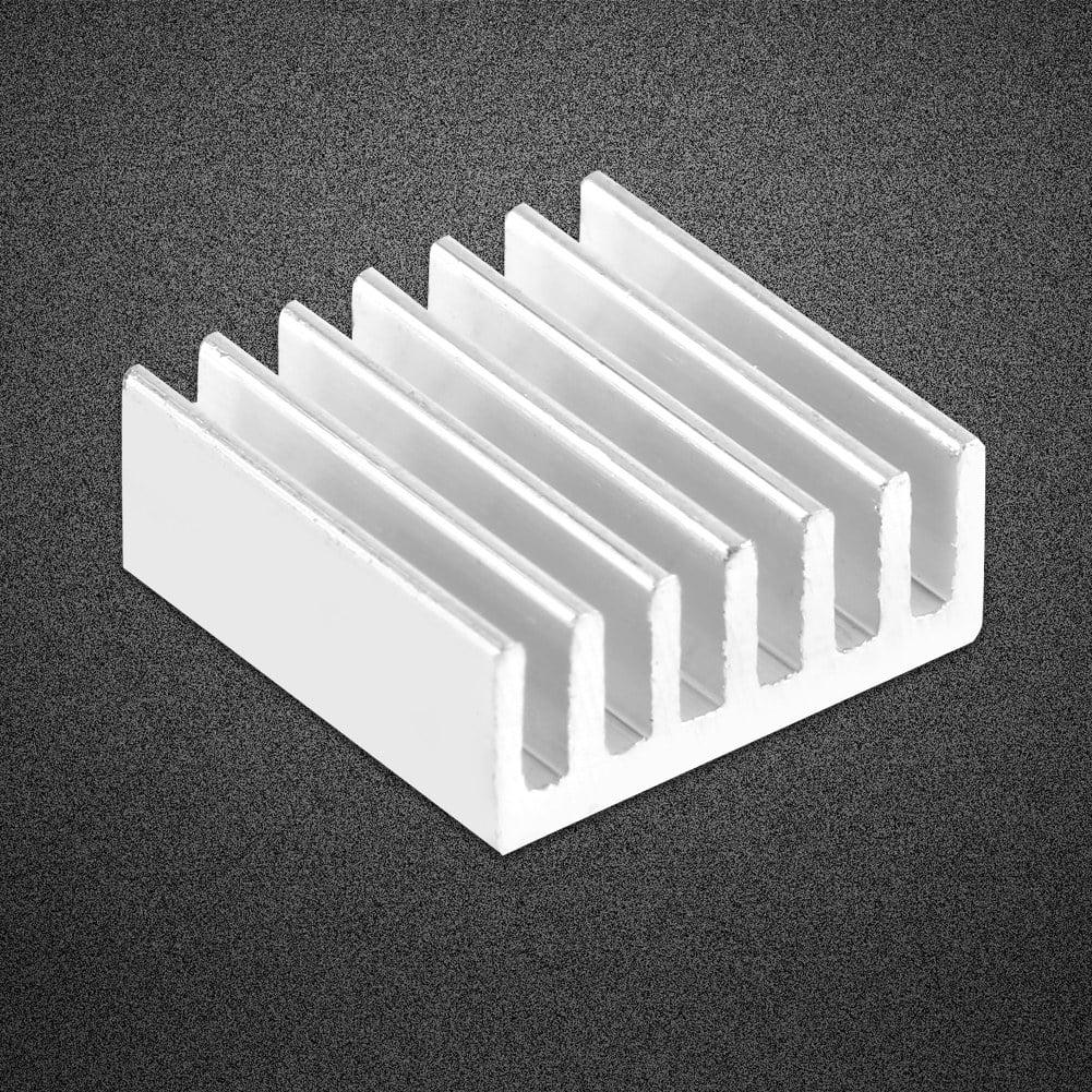 Aluminum Heatsink 12pcs Small Aluminum Heatsink Cooling Kit with Adhesive Glue on Back 14x14x6mm
