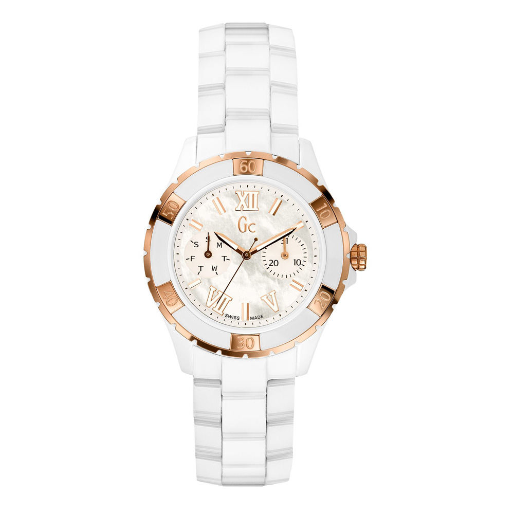 Guess Collection Women's 36mm White Ceramic Band & Case S...