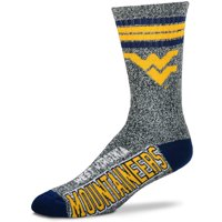 West Virginia Mountaineers For Bare Feet Got Marbled Crew Socks - Gray