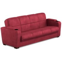 Product Image Mainstays Tyler Futon With Storage Sofa Sleeper Bed Multiple Colors