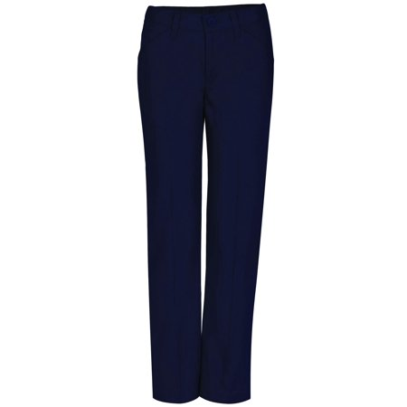 Real School Flat Front Low Rise Pant School Uniform Approved (Big Girls Plus)