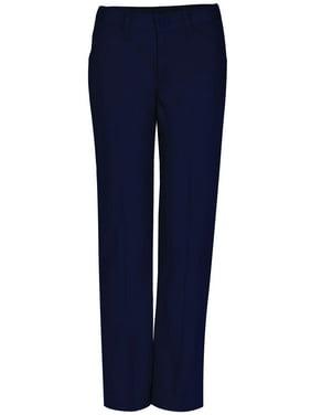Real School Girls Plus School Uniform Flat Front Low Rise Pants (Plus)