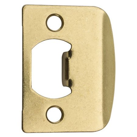 - 3437-01 3 CP, STRK, SQ CNR FULL LIP Square Corner Strike Plate, Polished Brass, The product is manufactured in china By Kwikset
