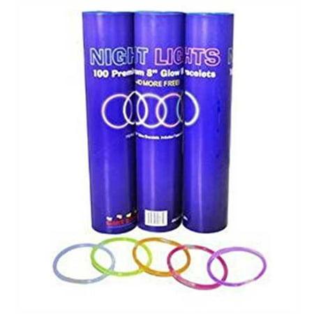Glow Stick Bracelets- Tube of 300 8 Premium Glow Stick - Wholesale Glowsticks