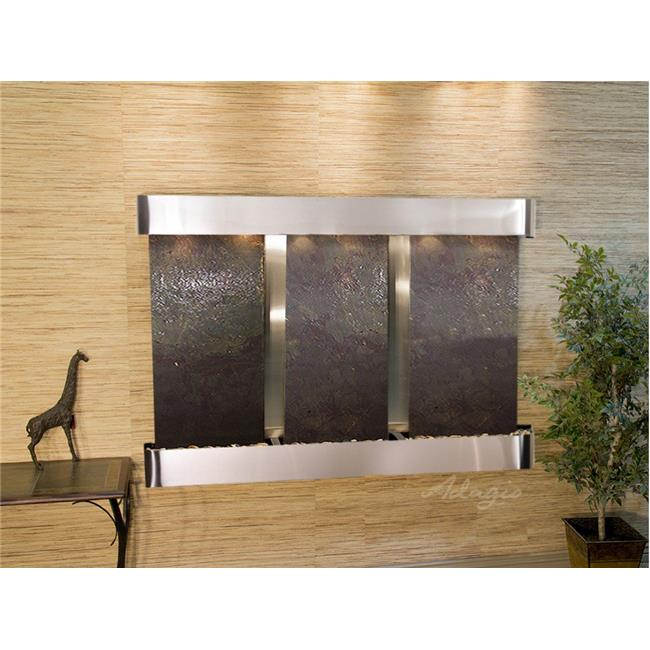 Adagio OFR2014 Olympus Falls-Round-Stainless Steel-Multi-Color Featherstone Wall Fountain