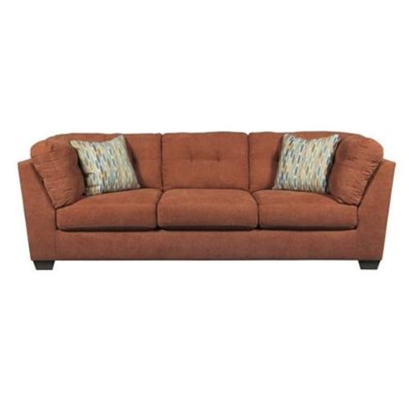 Ashley furniture delta city microfiber sofa in steel for Ashley microfiber sectional with chaise