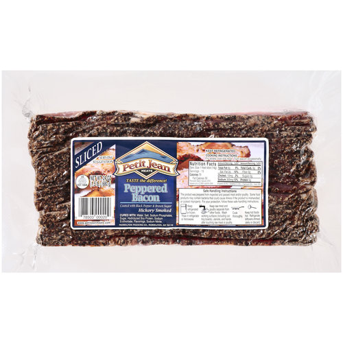 Petit Jean Peppered Hickory Smoked Bacon, 24 oz