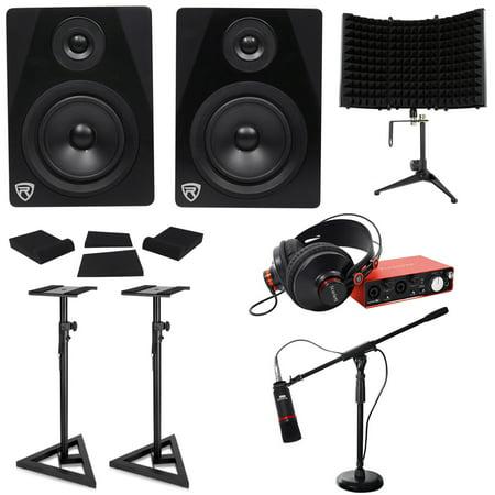 focusrite scarlett solo studio 2nd gen interface mic headphones monitors stands. Black Bedroom Furniture Sets. Home Design Ideas
