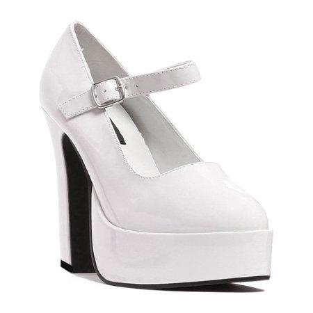 New Sexy 4 Inch Heel - 5 Inch Women's Sexy Mary Jane Shoes Mid Platform Chunky Heel Shoe