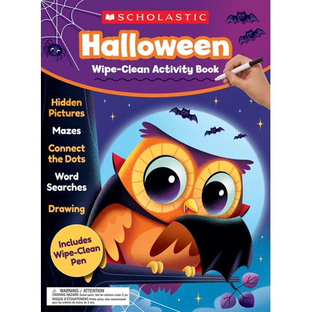Halloween Wipe-Clean Activity Book