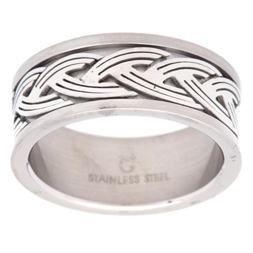 Stainless Steel Celtic Knot Band Size 8