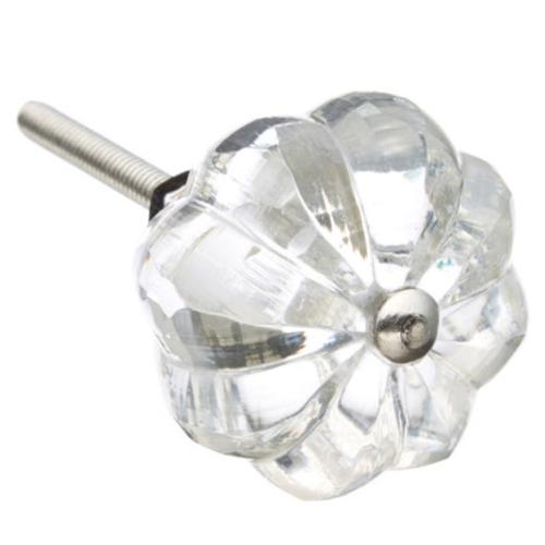 Shabby Restore Umbrella Clear Glass Drawer/ Door/ Cabinet Knob (Pack of 6)