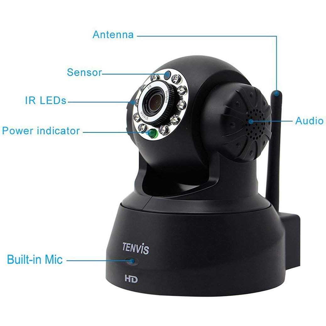TENVIS JPT3815W-HD Wireless Surveillance IP/Network Security Camera ...