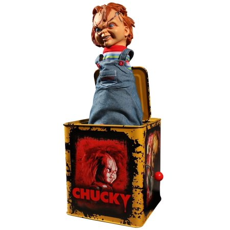 Child's Play Scarred Chucky Mezco Burst-A-Box (Talking Chucky)